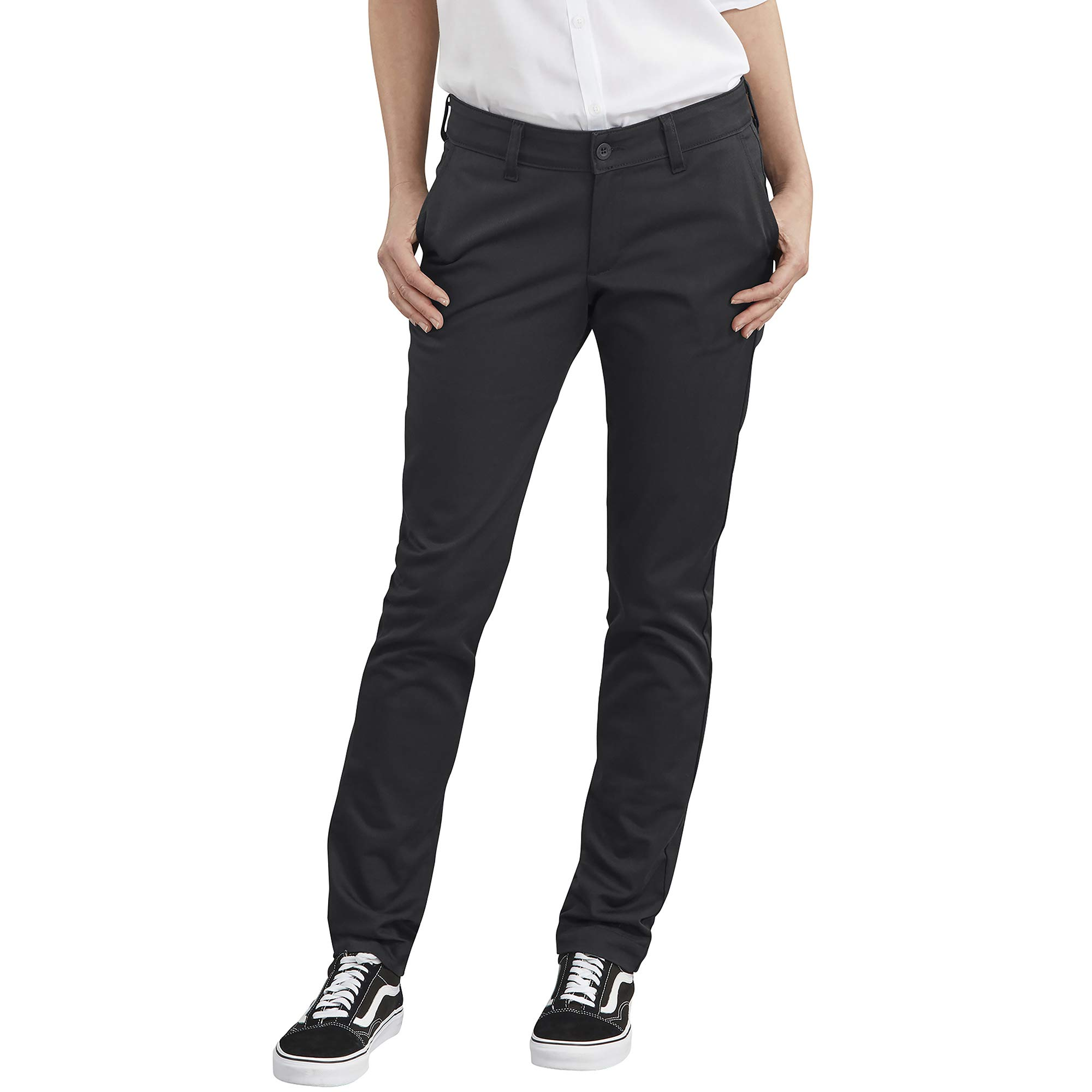 Dickies Women's Plus Size Straight Flex Twill Pant