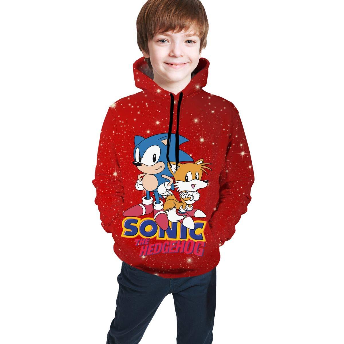 LThgn Sonic The Hedgehog Sweatshirts Pullover Hoodies for Teen Girls Boys Funny Cool Streetwear