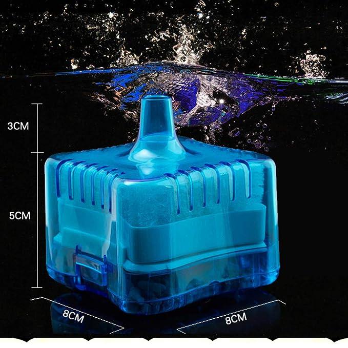 Morza Mini Ronda Tienda Fish Tank Súper neumático Bioquímica casa de Acuario Filtro de carbón Activado: Amazon.es: Hogar
