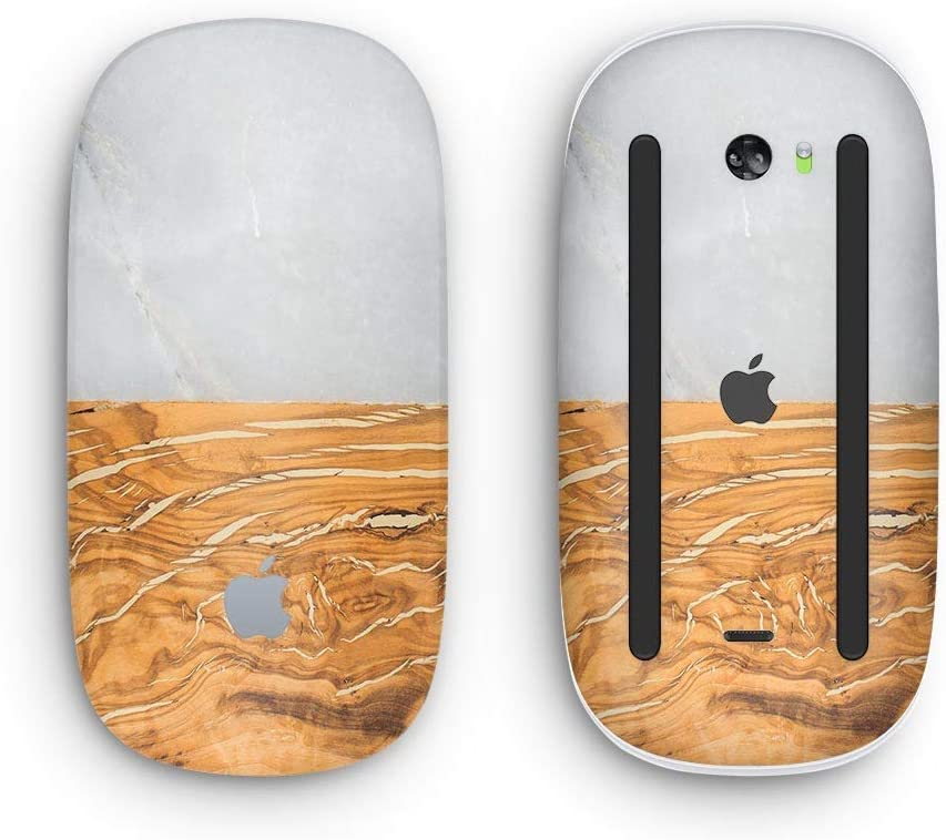 Marble /& Wood Mix V1 with Multi-Touch Surface Design Skinz Premium Vinyl Decal for The Apple Magic Mouse 2 Wireless, Rechargable