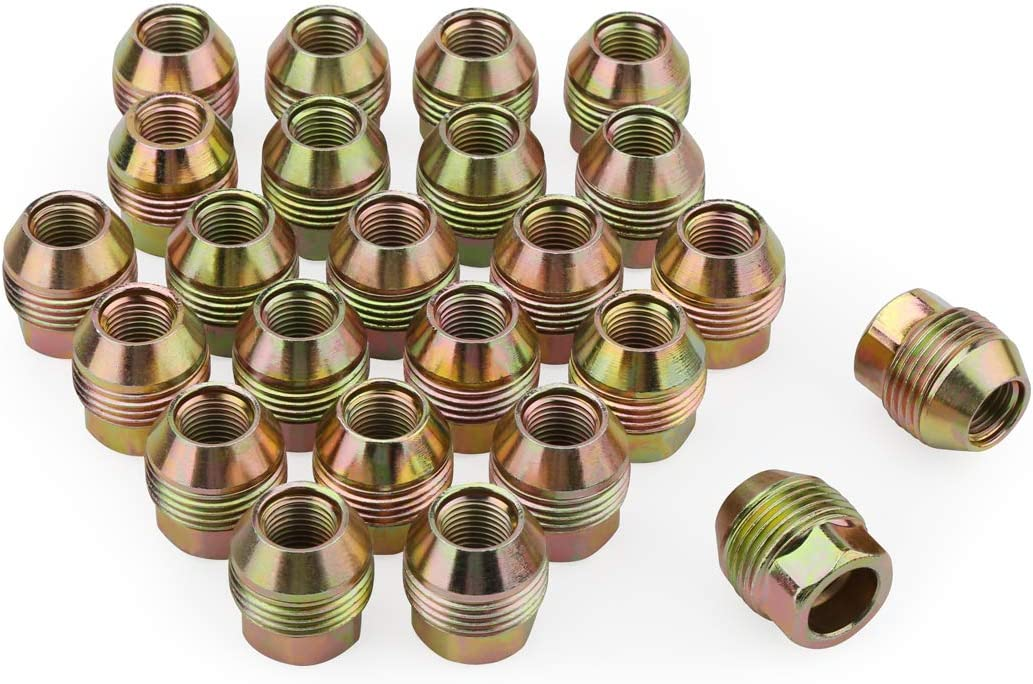 20pcs Chrome 14mm X 1.50 Wheel Lug Nuts fit 2008 Chevrolet Express 2500 May Fit OEM Rims Buyer Needs to Review The spec