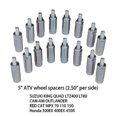 "5"" ATV Wheel SPACERS fit Suzuki King Quad LTZ400 LT80/CAN-AM Outlander/RED CAT MPX 70 110 150/Honda 300EX 400EX 450R 16PCS: Automotive"
