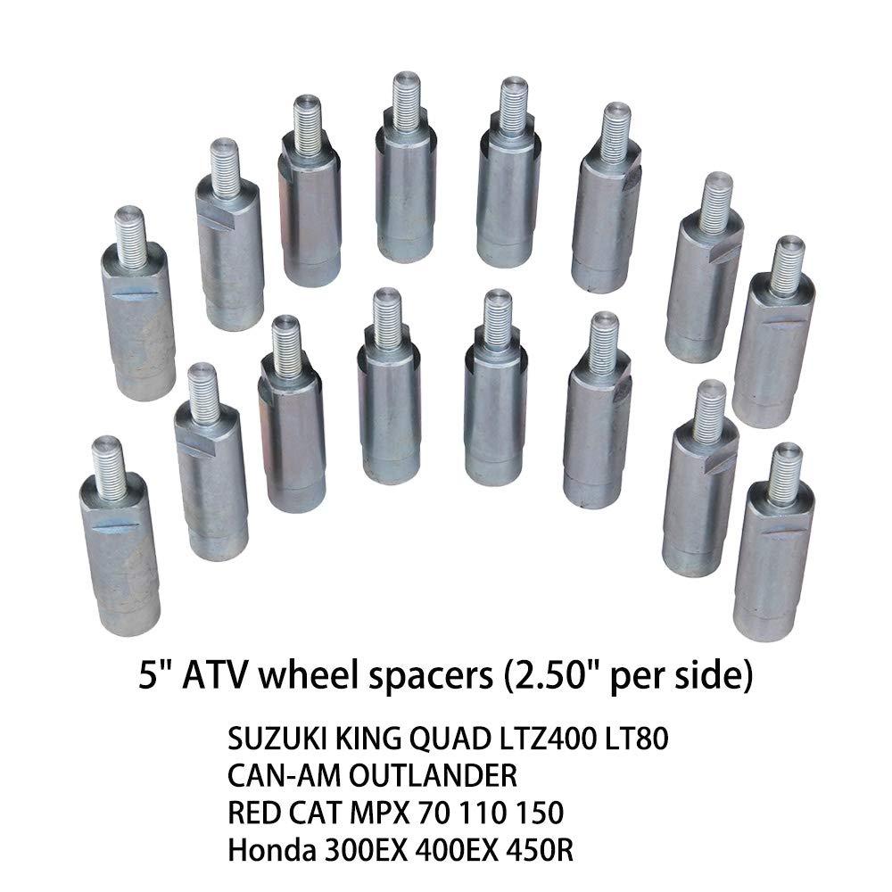 HEKA 5 ATV Wheel SPACERS fit Suzuki King Quad LTZ400 LT80//CAN-AM Outlander//RED CAT MPX 70 110 150//Honda 300EX 400EX 450R 16PCS