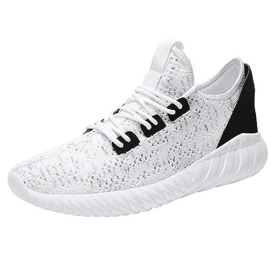 Zapatos de hombre JiaMeng Hombres Zapatillas Moda Hombres Casual Deportes Zapatos cómodos de Malla Deportivos Transpirables: Amazon.es: Ropa y accesorios