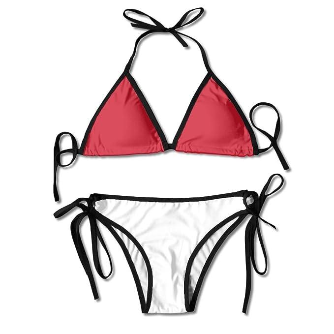 9f89cc28e4 Amazon.com: LINGMEI Flag of Monaco Sexy Boxing Bikini Women Halterneck Top  and Set Swimsuits Beach Swimming: Clothing