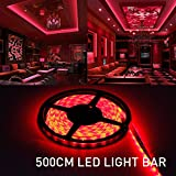 MIHAZ Light Outdoor Strips 16.4ft 5M 300 Waterproof Red Light LED 2835 White PCB Power Supply For Home and Kitchen Decoration