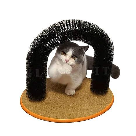 glanzzeit gatos Self Grooming cero cepillo de pelo para arco de gato limpieza Catnip Juguete