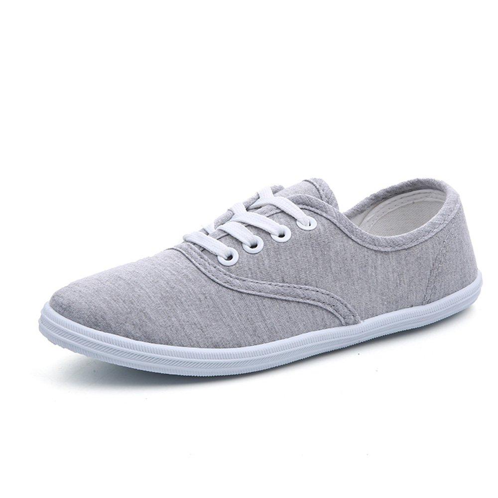 Mens Adjustable Runing Casual Sport Canvas Sneaker Walking Shoes 8 US Grey