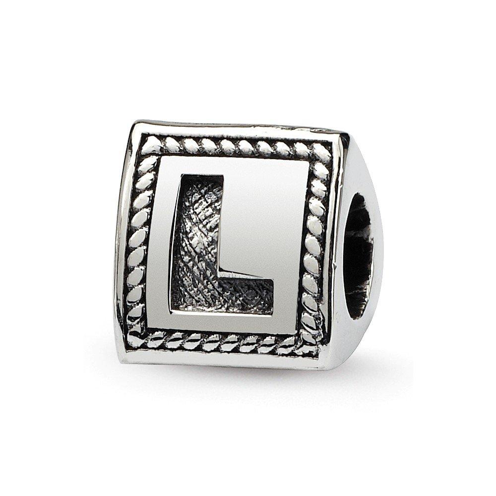 Argent Sterling réflexions Letter L Perles-Breloque JewelryWeb Block-Triangle