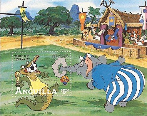 Anguilla - 1982 Disney World Cup Football - Souvenir Sheet #501