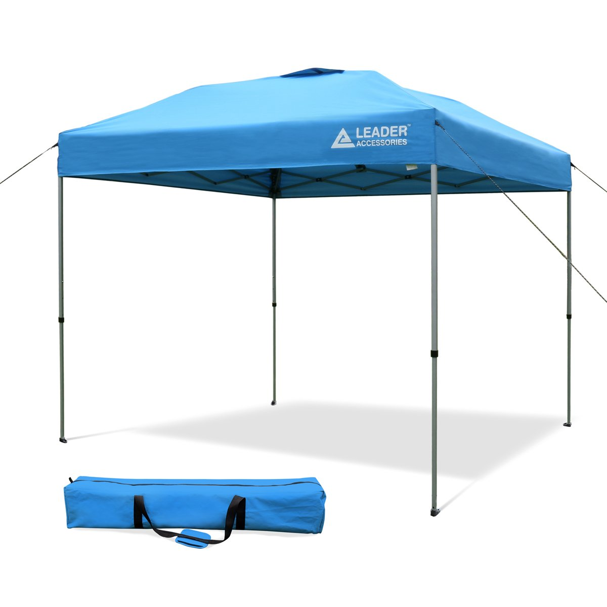 Leader Accessories 8 x 8 Straight Wall Instant Canopy with Carry Bag Blue