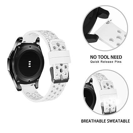 Amazon.com: Correa de reloj para hombre y mujer Samsung Gear ...