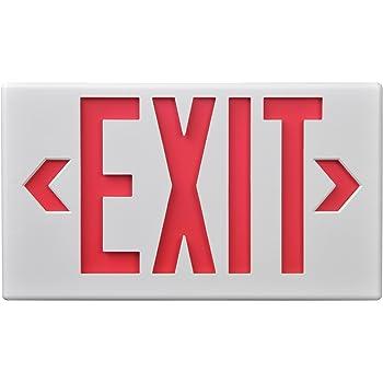 Sure Lites Lpx7 Led Commercial Exit White Housing