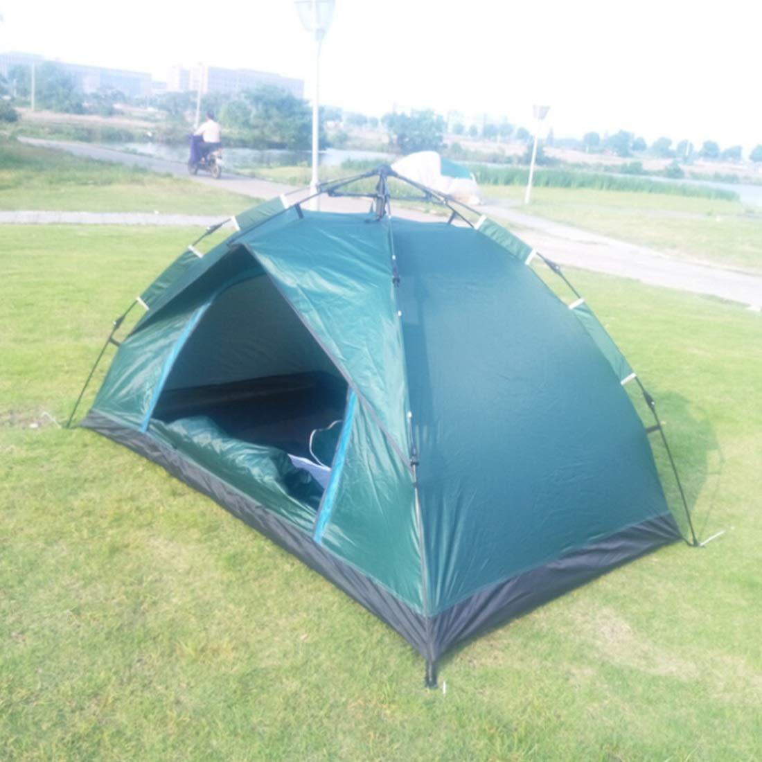Olprkgdg Wildes Camping für 3 und 4 Personen automatisches Zelt (Farbe : Grün)
