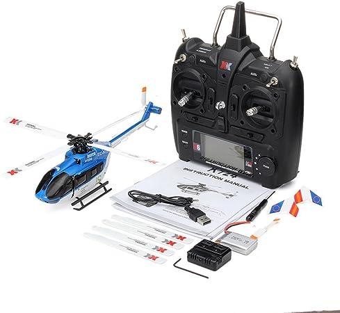 Opinión sobre Faironly XK K124 RC Drone BNF - Helicóptero teledirigido (sin transmisor, Motor sin escobillas, Motor 3D, Compatible con FUTABA S-FHSS)
