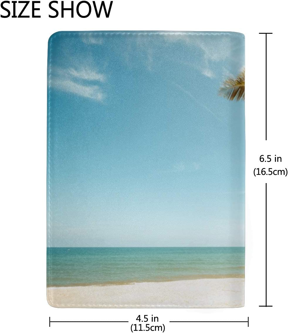 Many Different Surf Boards Blocking Print Passport Holder Cover Case Travel Luggage Passport Wallet Card Holder Made With Leather For Men Women Kids Family