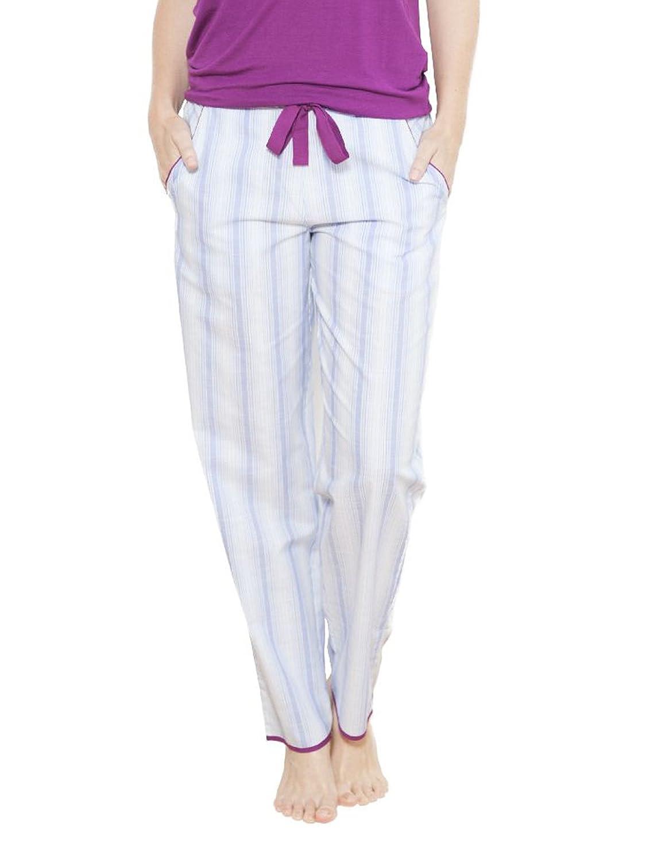 TALLA 42. Cyberjammies 3650 Women's Florence Blue Striped Pajama Pyjama Pant