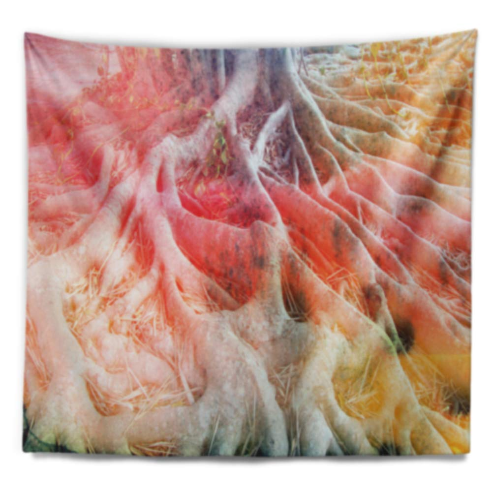 x 32 in Designart TAP8588-39-32 Retro Roots Watercolor Trees Painting Blanket D/écor Art for Home and Office Wall Tapestry Created On Lightweight Polyester Fabric Medium: 39 in