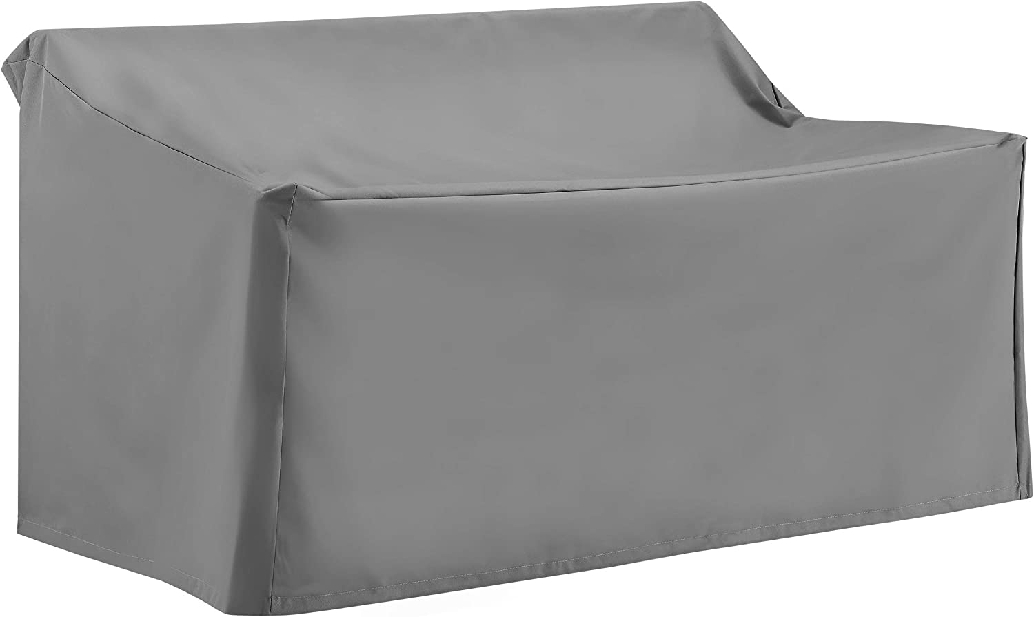 Crosley Furniture CO7501-GY Heavy-Gauge Reinforced Vinyl Outdoor Loveseat Cover, Gray
