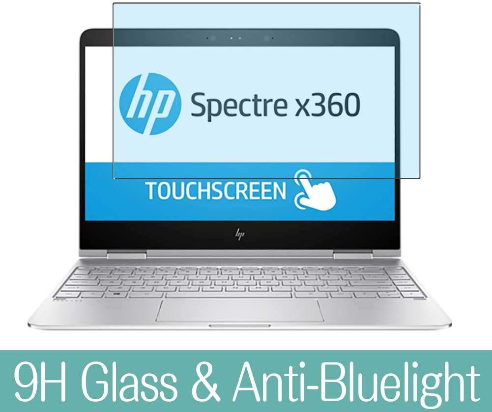 Synvy Anti Blue Light Tempered Glass Screen Protector Compatible with HP Spectre x360 13-w031ng 13.3 inch Visible Area 9H Protective Screen Film Protectors (Not Full Coverage)