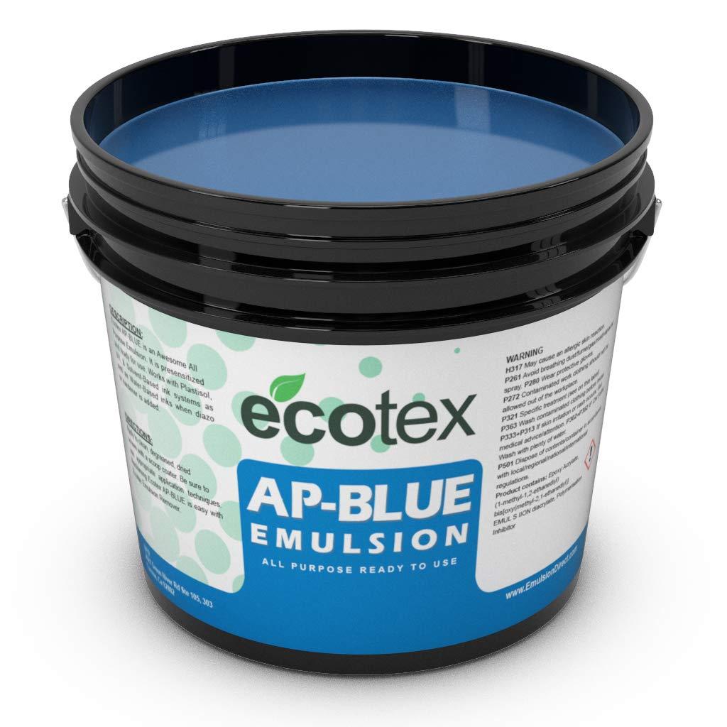 Ecotex AP Blue All Purpose Ready to Use Screen Printing Emulsion Pint - 16 oz.