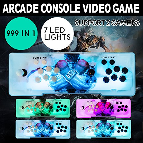 Happybuy Video Game Console, Arcade Machine 1500 Classic Games, 2 Players Pandora's box 5S multiplayer home Arcade Console 1500 Games All in 1 NON-JAMMA PCB Double Stick Newest Design Buttons Power HD by Happybuy (Image #1)