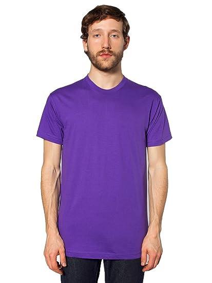 American vestir Fine Jersey camiseta de manga corta de hombre–Morado–S DYctPBzW
