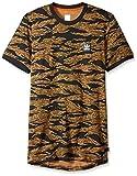 adidas Originals Men's Skateboarding Camo All Over Print Tee, Black/Collegiate Orange, XS