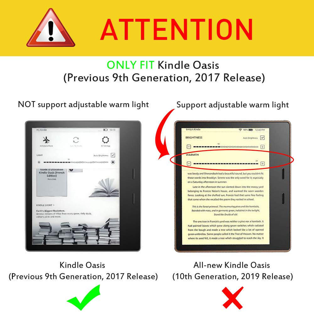 Fintie Origami Case for Kindle Oasis (Previous 9th Gen, 2017 Release) -  Slim Fit Stand Cover Hands Free Reading with Auto Wake Sleep (Not Fit  All-New