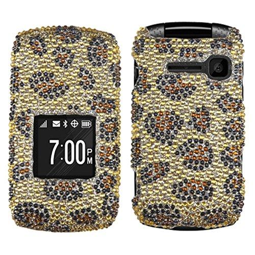 MyBat KYO2150HPCDM113NP Dazzling Diamond Bling Case for Kyocera Coast/Kona - Retail Packaging - Leopard - Skin Mybat Leopard