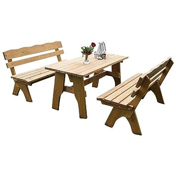 Gartenmöbel set mit bank  Amazon.de: TPFGarden 3-teilige Garnitur / Gartenmöbel Set DRIEBURG ...