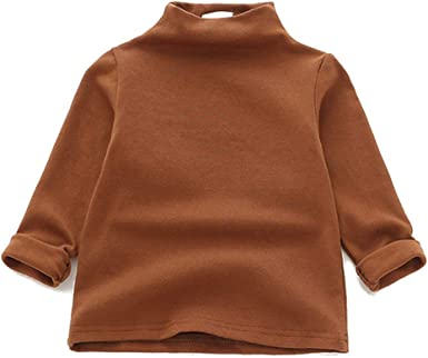 Soly Teche Kids Girls High Collar Long Sleeve Patchwork Casual Pullover Sweatshirts