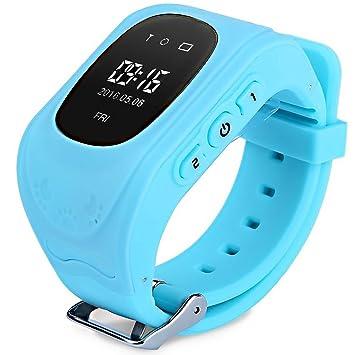 016e04c6b95 Relógio Smartwatch Q50 kids Gps Localizador de Crianças Idosos Rastreador  Chamadas SOS Andorid IOS (AZUL