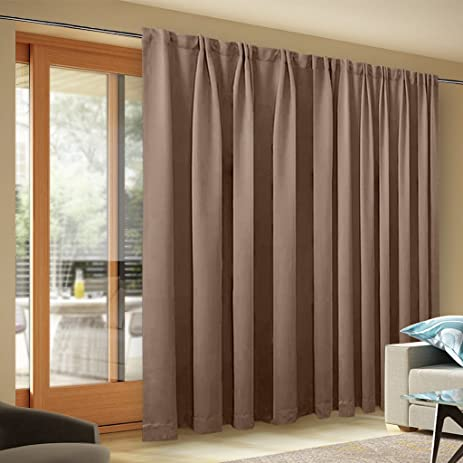 Ordinaire Wide Width Blackout Patio Curtain   Thermal Blackout Patio Door Curtain  Panel, Sliding Door Insulated