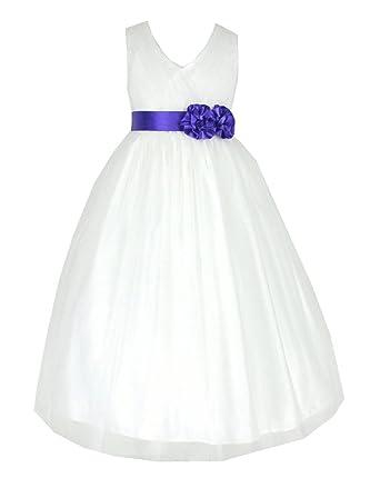 go2victoria Tulle Mariage Cérémonie Occasion Princesse Robe Fille Beige    Lilas 2 ans (I202Pur- 7d15445386d2