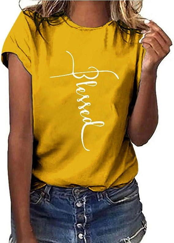 Luoluoluoluo - Camiseta de Manga Corta para Mujer, diseño de ...