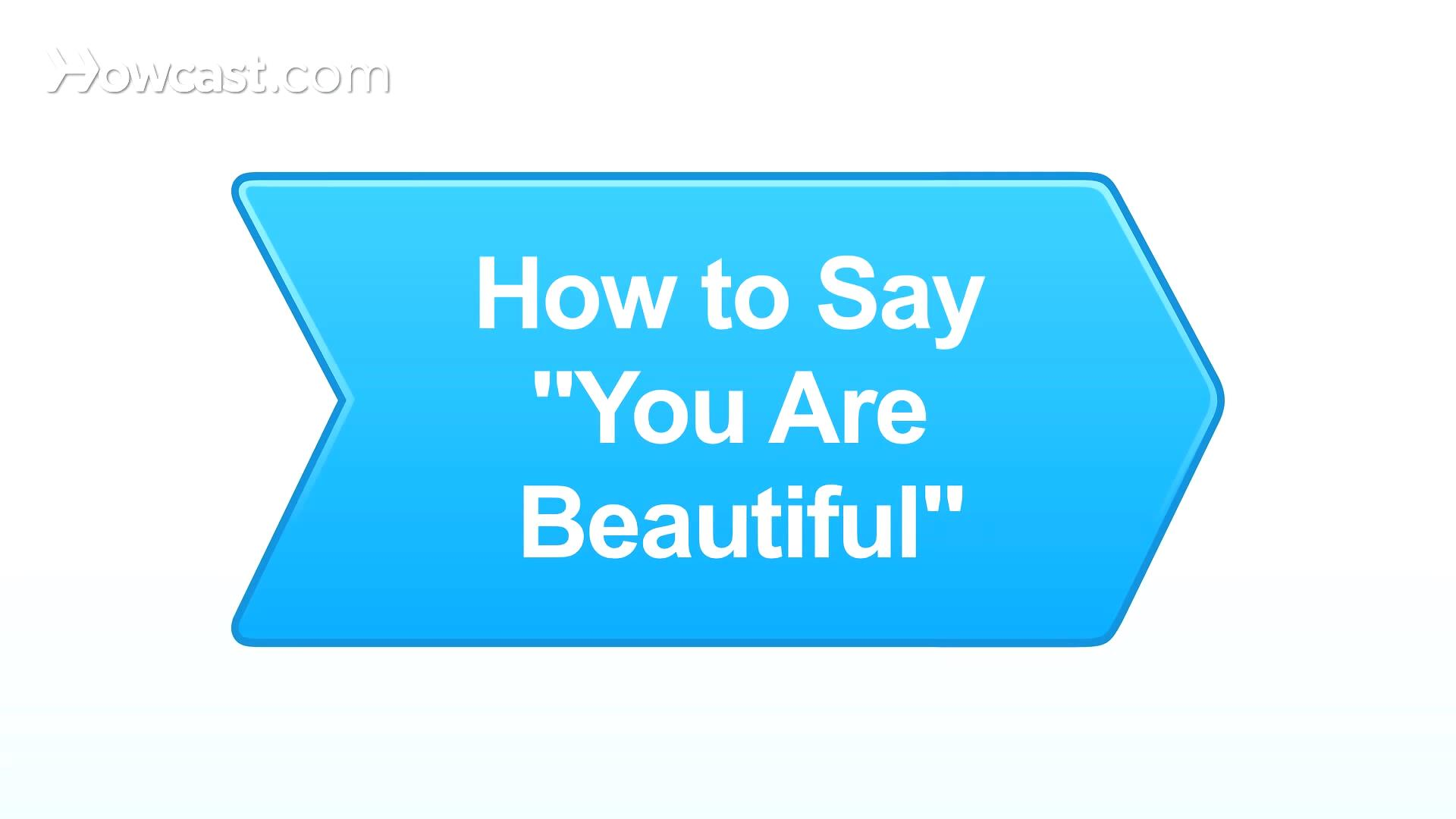 How To Say You Are Beautiful In German