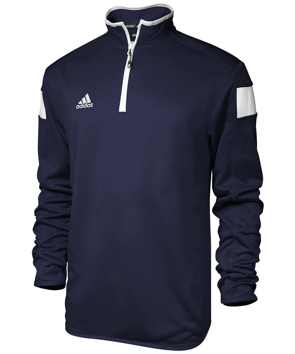 adidas climalite Shockwave 1/4 Zip Long sleeve, Collegiate Navy/White, Small by adidas