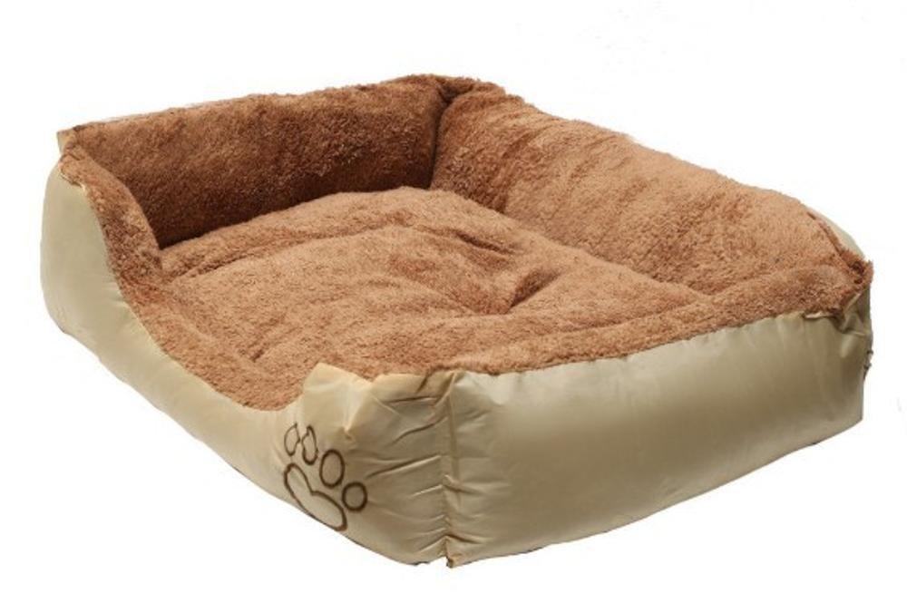 Gwanna Pet Bed for Pet Mat Big Kennel Goat Fleece Oxford Cloth Soft Pad for Pets Sleeping