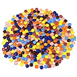 Md Trade 600 Gram/21 Ounce Assorted Colors Mosaic Tiles Art Glass Mosic For Home Decoration and Crafts Supplies, 1 By 1 Centimeter