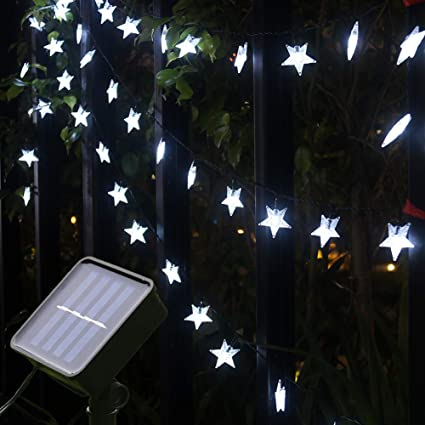 Outdoor 50 LED 23ft Solar Powered String Light Garden Patio Yard Landscape Lamp