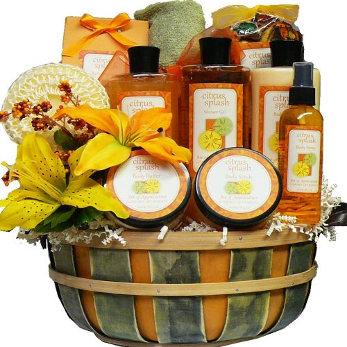 Citrus Splash Spa Bath and Body Gift Basket (Ideas For A Spa Gift Basket)