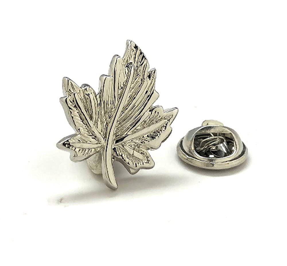 Men's Executive Lapel Pin Oh Canada Lapel Pin Silver Tone Maple Leaf Tie Tac Williams and Clark
