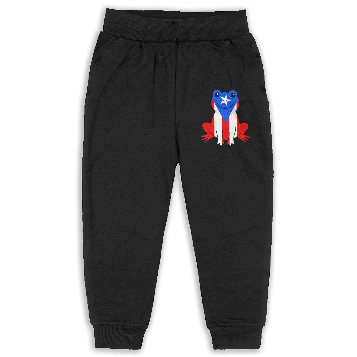 Kids Joggers Puerto Rico Frog Fashion Sweatpants 2T 6T