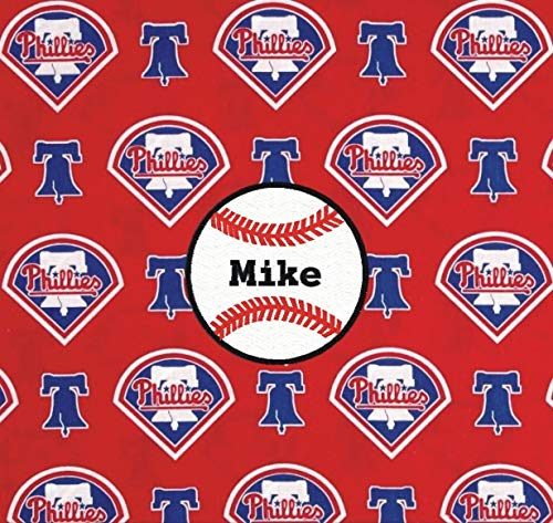 Philadelphia Phillies Baseball Fabric Personalized Pillow