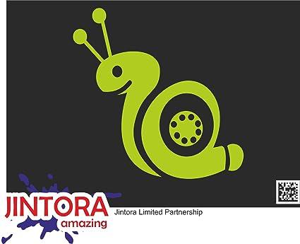 JINTORA Etiqueta para el Coche/Etiqueta engomada - Caracol Turbo II - 99x99 mm - JDM/Die Cut - Coche/Ventana/Laptop/Ventana - Cal: Amazon.es: Coche y moto