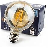 LEDフィラメント電球 40W相当 ボールG80 エジソンランプ フィラメント型 口金 E26 レトロ色 雰囲気良い光 おしゃれ LED 節電 全方向360°発光 (1個入り) (4.5W-1個入)