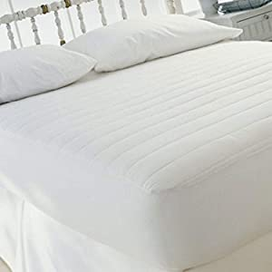 "Sweet Home Collection 15"" Polyester Fill Fitted Mattress Pad Skirt, Queen"