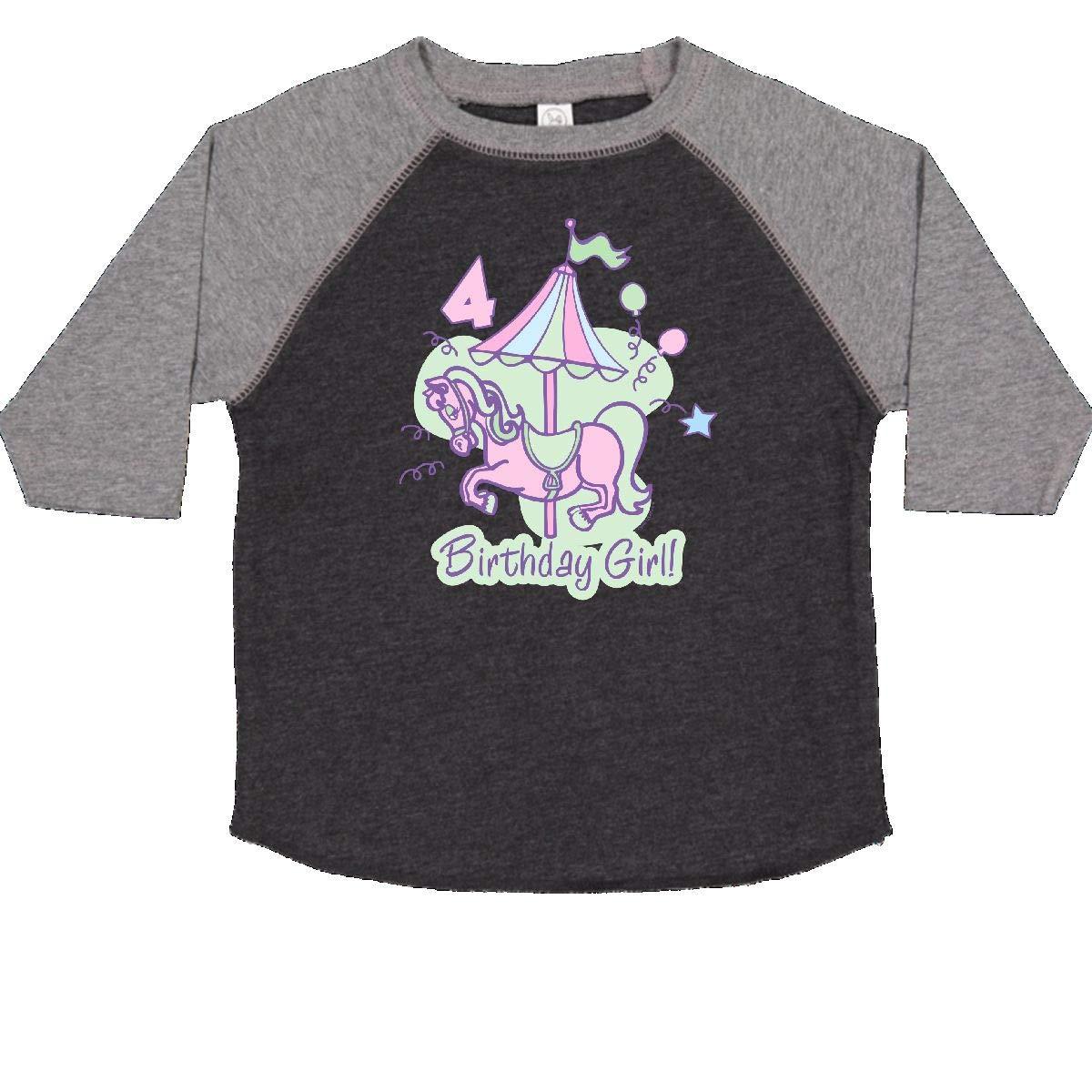 inktastic Carousel 4th Birthday Toddler T-Shirt