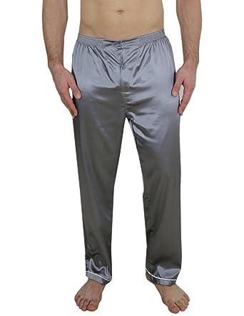 812f39659f Victoria Silk Mens Gorgeous Silk Pajama Pants Silver Size XL at Amazon  Men s Clothing store